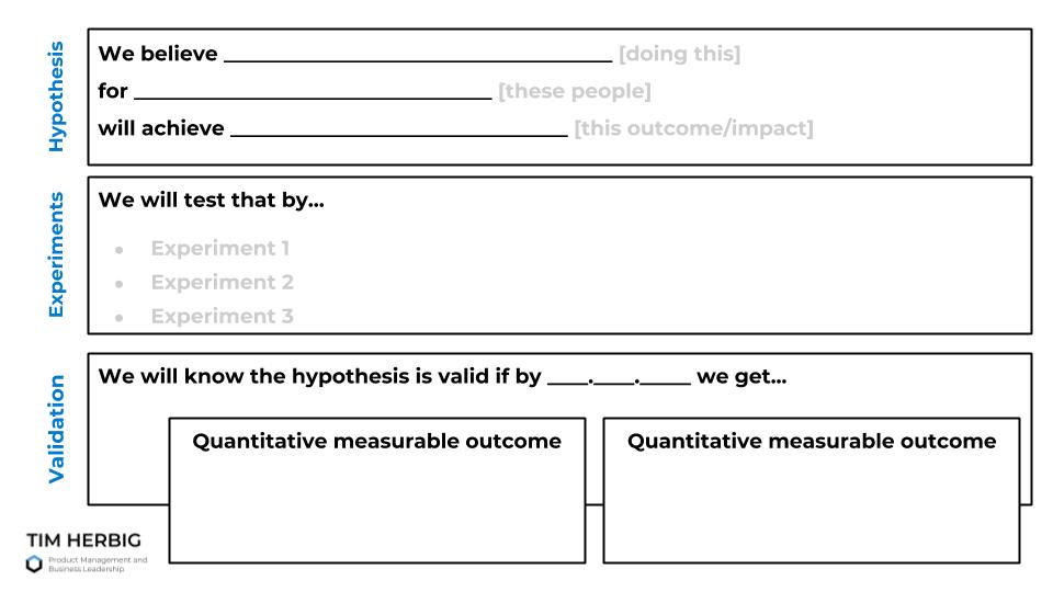 Lean UX Hypothesis Template