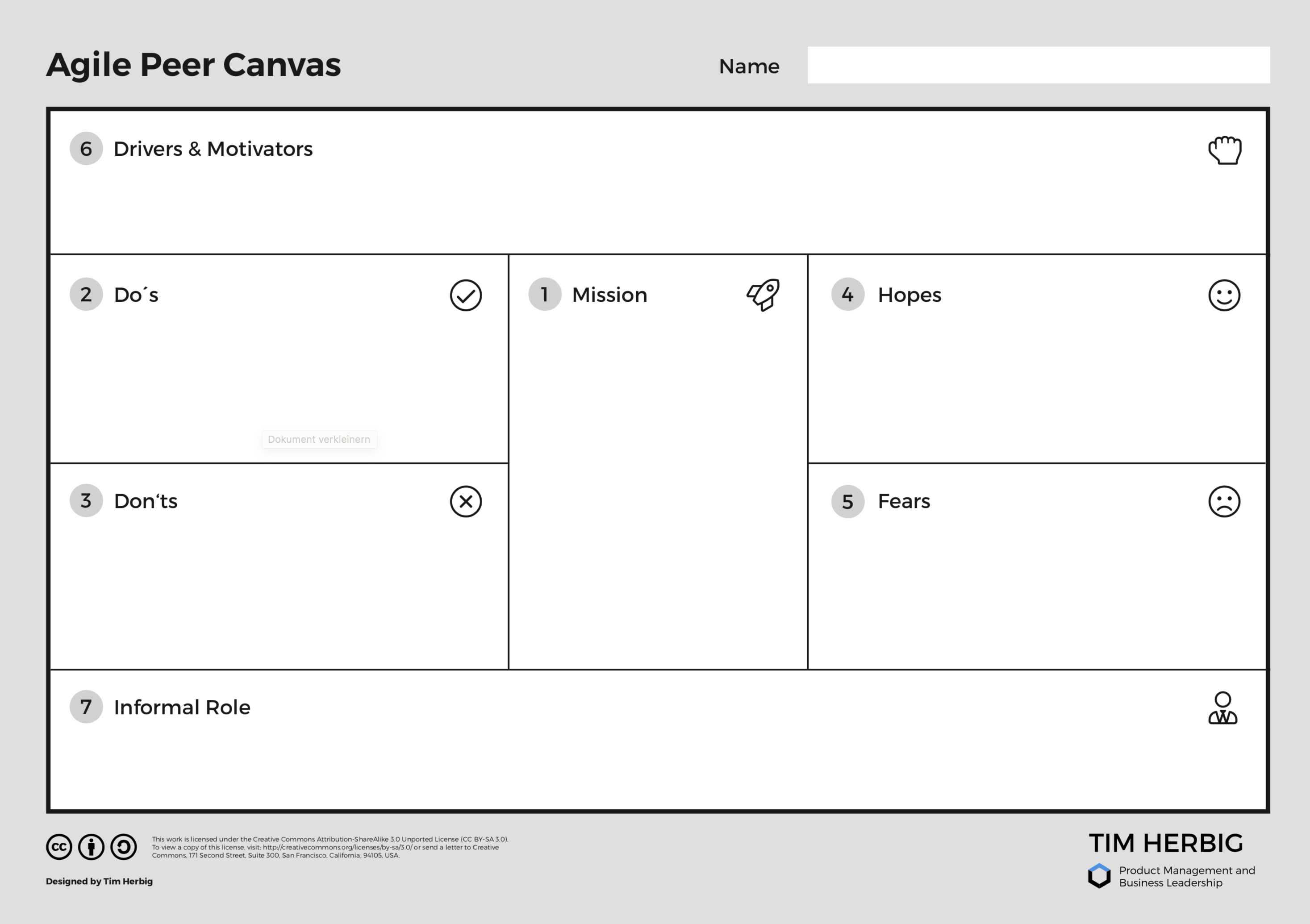 Agile Peer Canvas for Lateral Leadership