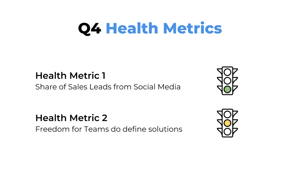 Health Metrics for combining OKR Product Management