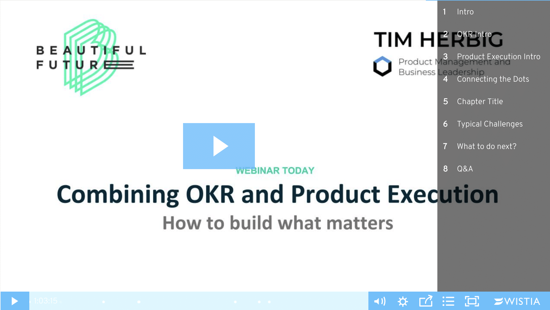 Combining OKR and Agile Product Management Webinar