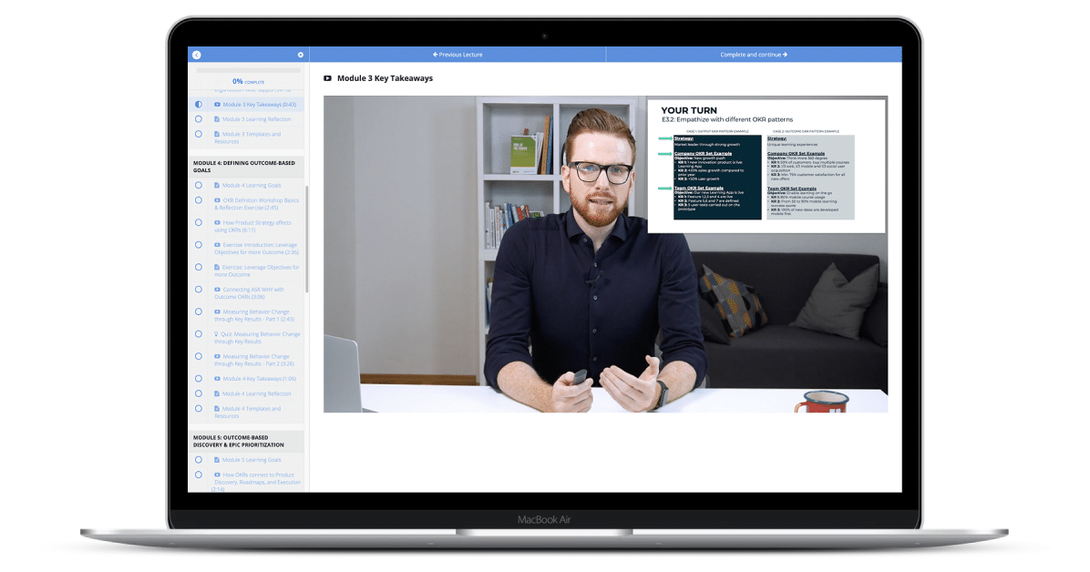 Outcome OKRs for Product Teams Course Preview Image