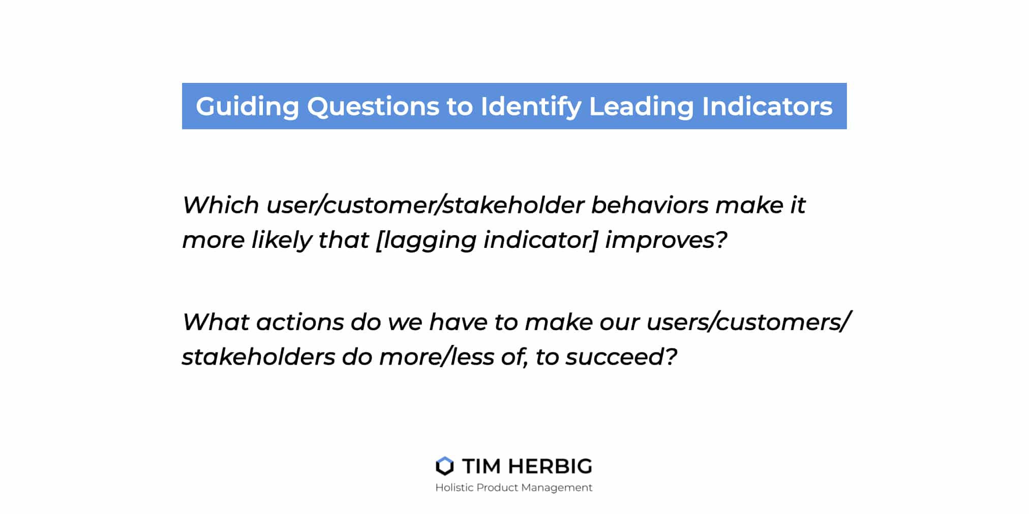 Leading Lagging Indicators Guiding Questions